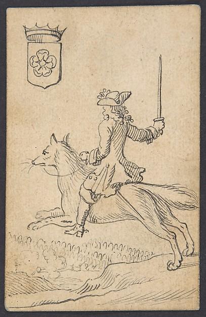 Rose King: A Man Astride a Fox