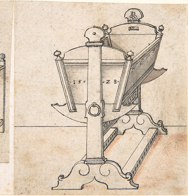 Perspectival Drawing of a Cradle