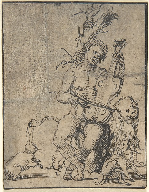 Orpheus Playing to the Animals