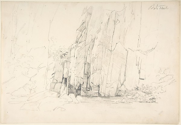 Rocks in the Bode Valley; verso: Small Landscape Studies
