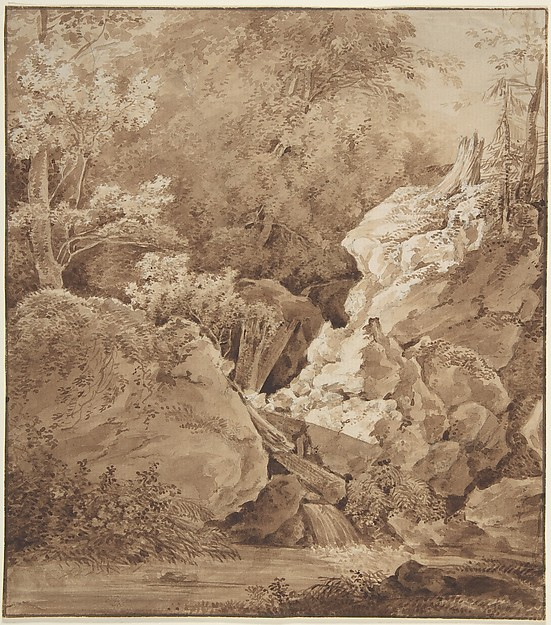 Woodland Scene with Mountain Stream