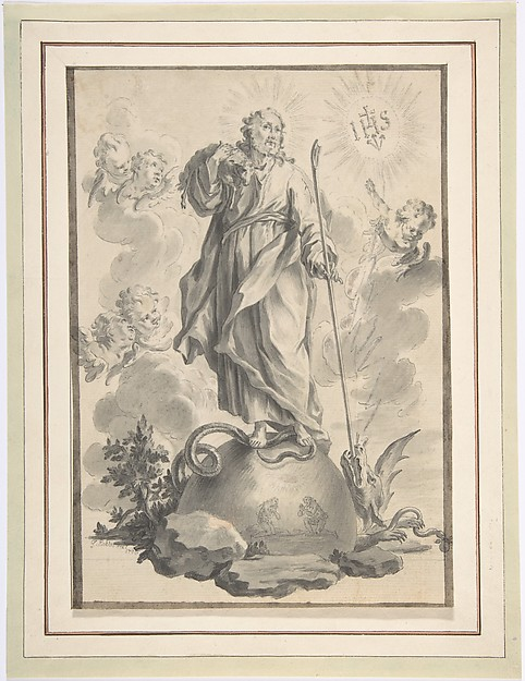 Fascinating Historical Picture of Younger with The Good Shepherd in 1715