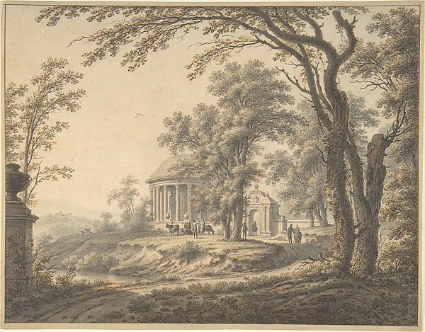 Idyllic Landscape with Temple