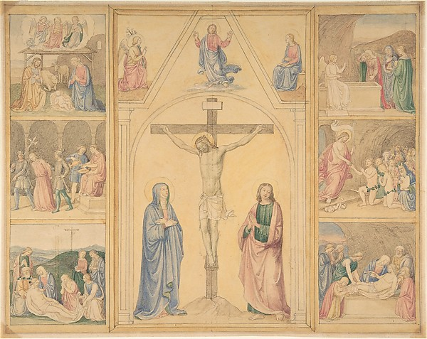 Christ on the Cross with Six Scenes from the Life of Christ