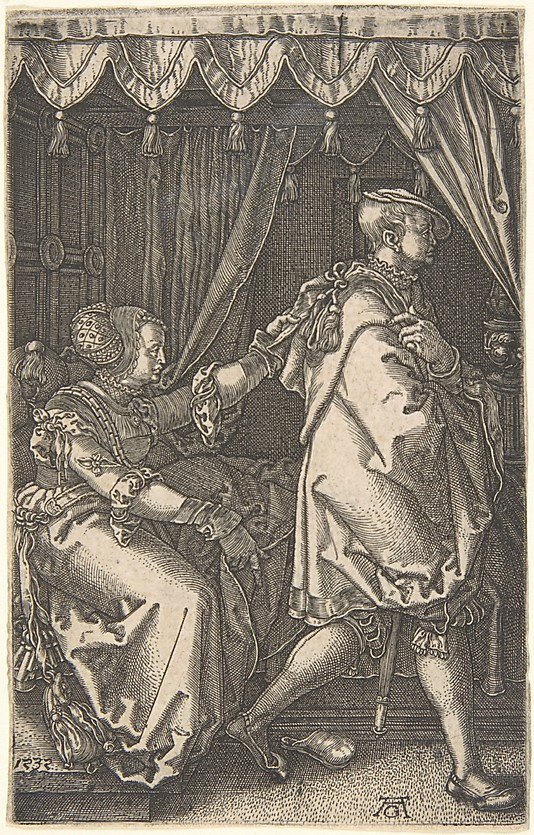 Joseph and Potiphar&#39;s Wife, from The Story of Joseph
