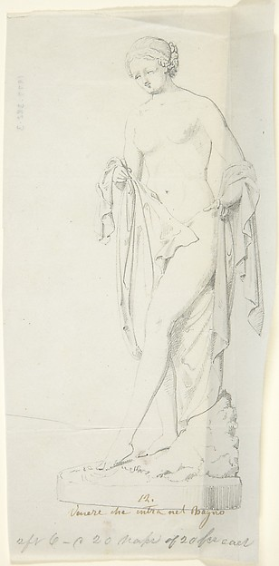 Sketch of Statue of Venus entering the Bath