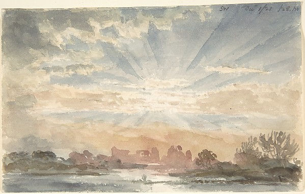 Landscape with Rising Sun, December 1, 1828, 8:30 a.m.