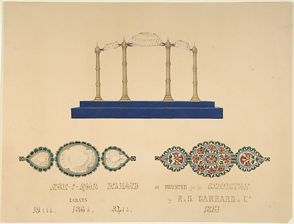 "Drawing of the ""Koh-I-Noor Diamond"""