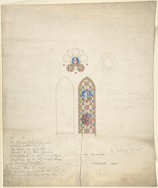 Design for stained glass windows in Ditteridge Church