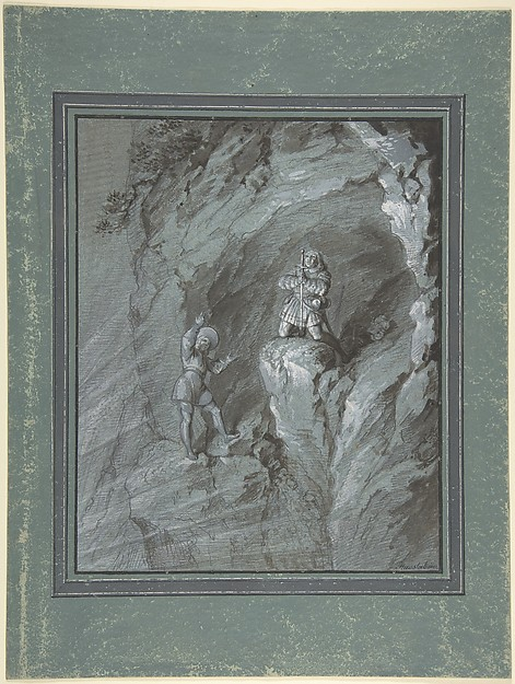 Soldiers in a Cave Receiving Blessings from Heaven