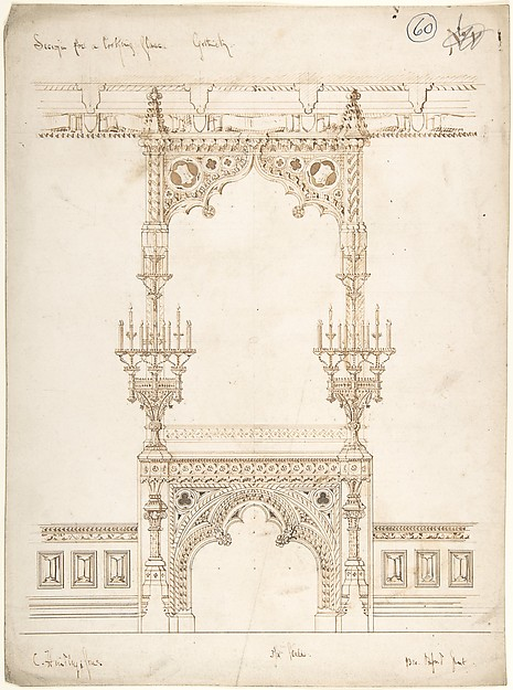 Design for a Gothic Mirror