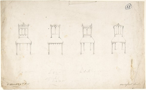 Designs for Four Chairs