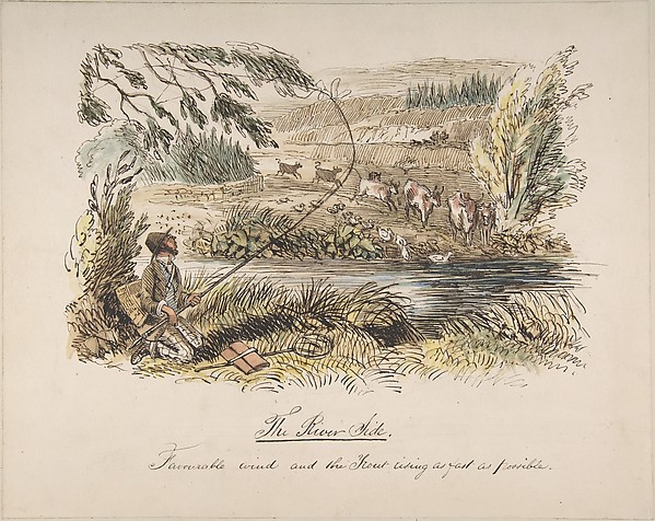 """The Riverside, Favourable Wind and the Trout Rising as Fast as Possible"""