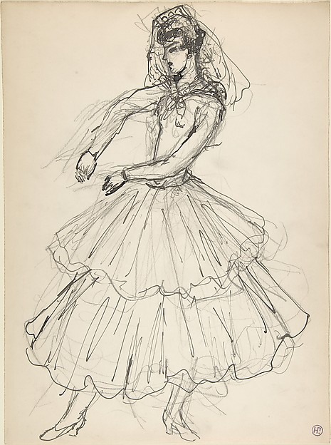 Costume design for a female dancer