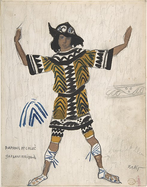 Costume design of Brigand Boy in Daphnis and Chloe
