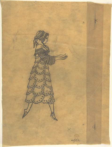 Tracing of a Ballet Costume: Woman in Ruffles