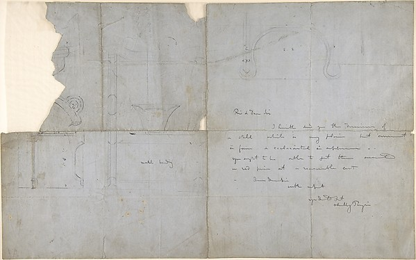 Sketches for an Ecclesiastical Stall (recto and verso)