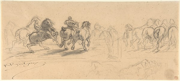 "Sheet of Studies for ""The Horse Fair"""