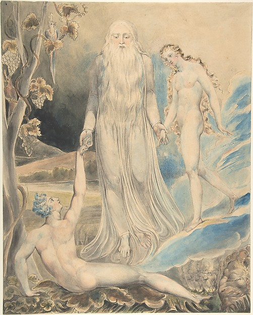 "Angel of the Divine Presence Bringing Eve to Adam (The Creation of Eve: ""And She Shall be Called Woman) (recto); Sketch for the same (verso)"