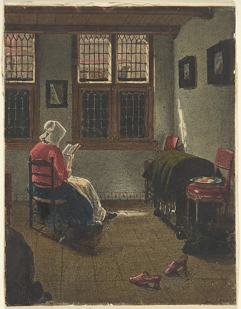 A Woman Reading, after Pieter Janssens Elinga