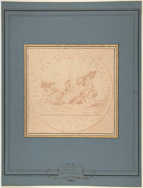 Design for a Token: Galères, 1740