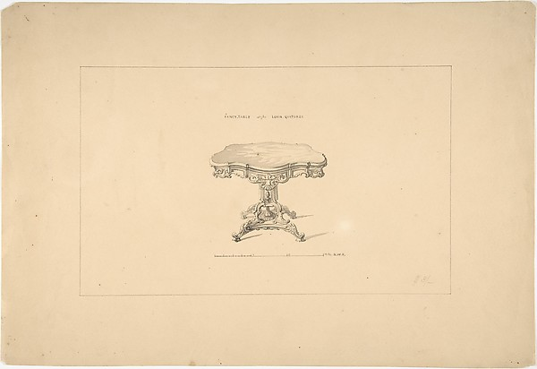 Design for a Fancy Table, Louis Quatorze Style