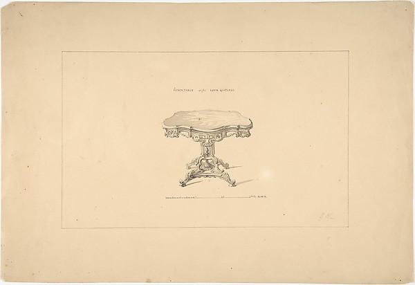 Design for a Fancy Table, Louis Quatorze Style