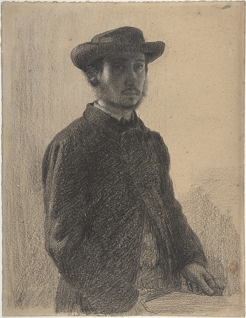 This is What Edgar Degas and Self-Portrait Looked Like  in 1857