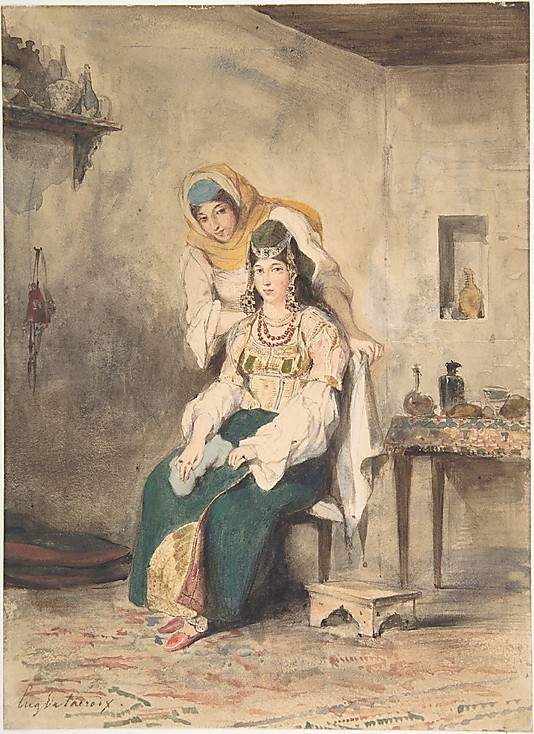 Saada, the Wife of Abraham Ben-Chimol, and Prciada, One of Their Daughters