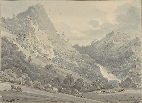 This is What Thomas Sunderland and The Falls of Lodore Looked Like  in 1764