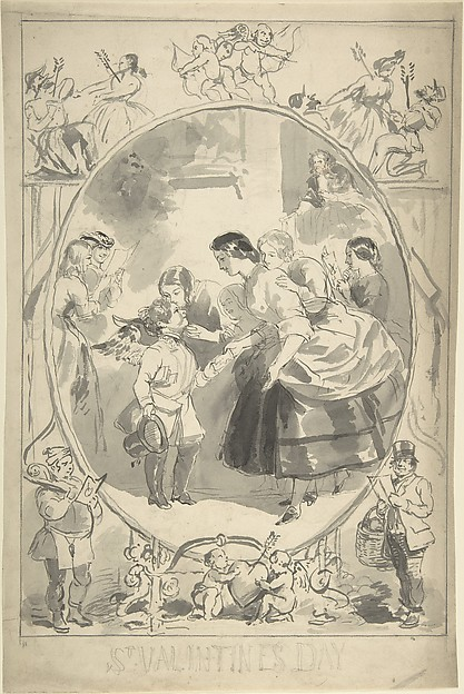 Design for the Cover of a Magazine, Valentine's Day Issue