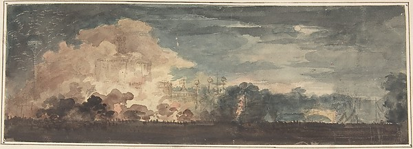 "Peace of 1814 and Centennial of the House of Brunswick: ""The Effect Previous to Discovering the Illuminated Temple of Peace and Concord in St. James's Park, London, August 1, 1815"" [should be 1814]"