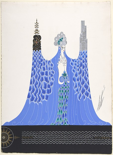 "Costume design for ""L'Océan Pacifique,"" George White's Scandals, New York, 1928."