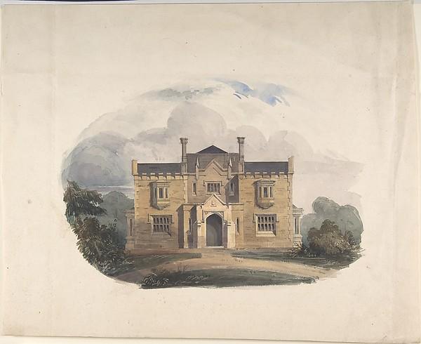 Design for a Tudoresque Villa, Elevation