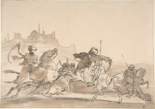 Combat of Oriental Horsemen