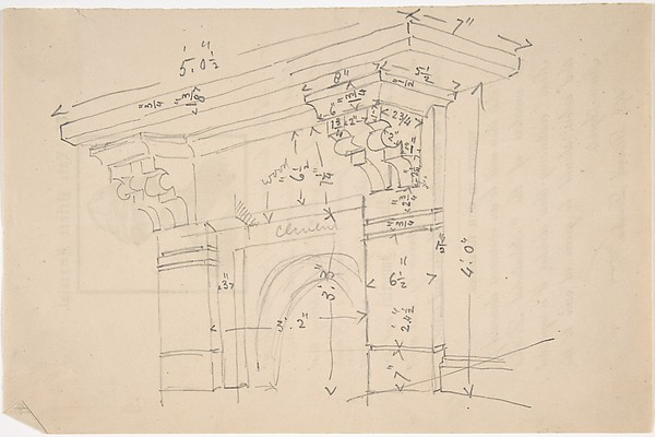 Measured Drawing of Cornice