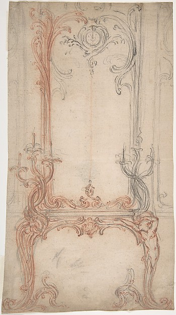 Study for a Mantel and Overmantel