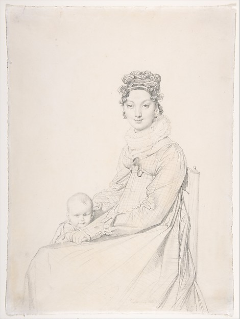 Madame Alexandre Lethière and Her Daughter Letizia