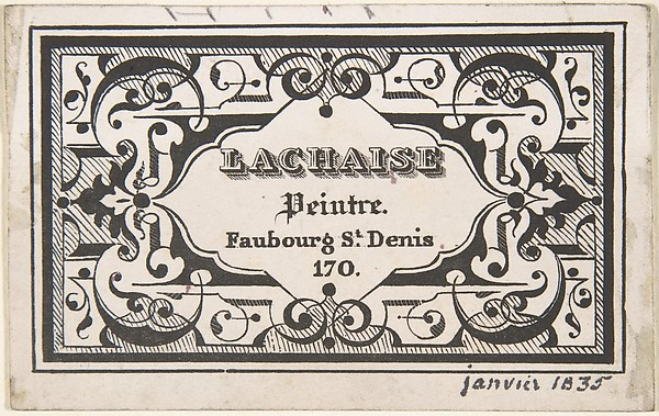 Fascinating Historical Picture of Jules-Edmond-Charles Lachaise with Trade Card on 1/15/1835