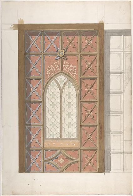 Design for Elevation of Window, Saint Clotilde