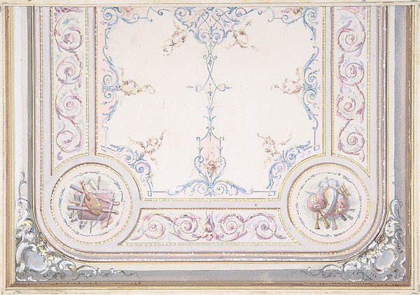 Design for Ceiling of the Duchess of Newcastle's Petit Salon, Hôtel Hope