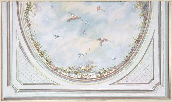 Design for Grand Salon Ceiling, Hôtel Hope