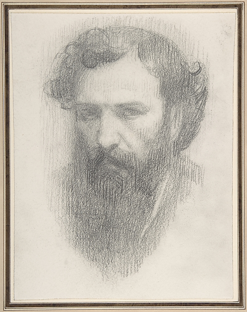 This is What Alphonse Legros and Self-Portrait Looked Like  in 1837