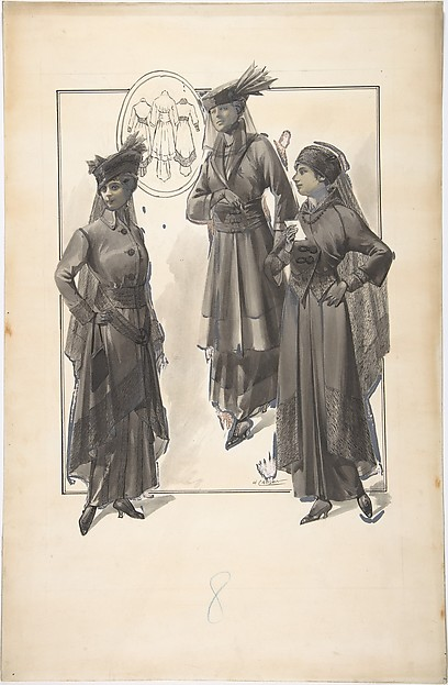 Designs for Three Women's Dresses