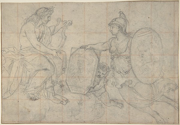 Minerva Presenting Two Portraits to Apollo