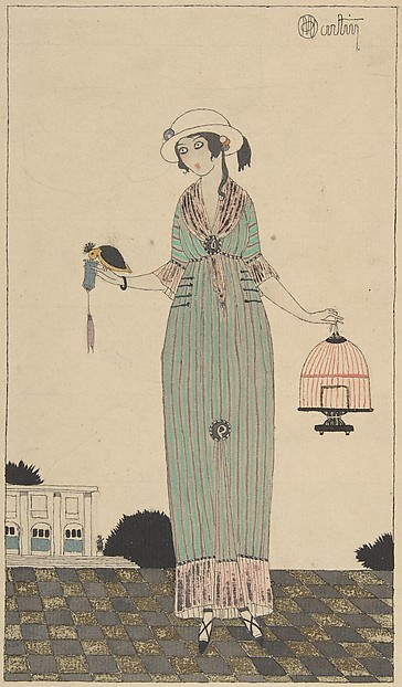 A Lady Feeding a Bird