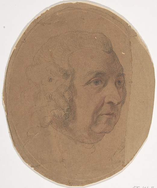 Fascinating Historical Picture of Francesco Bartolozzi with Charles Pratt Baron Camden (later 1st Earl Camden) in 1764