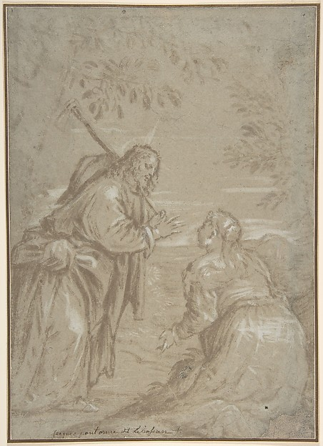 "Christ Appearing to Saint Mary Magdalen (""Noli Me Tangere"")."