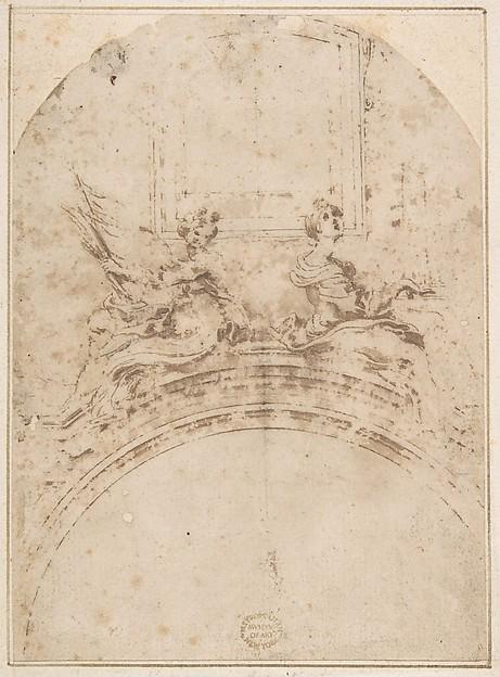Seated Figures of Saint Ursula and Saint Cecilia