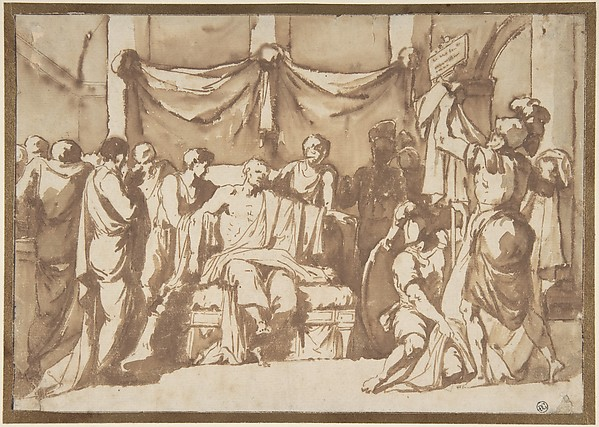 Fascinating Historical Picture of Pierre Peyron with The Death of Seneca in 1773